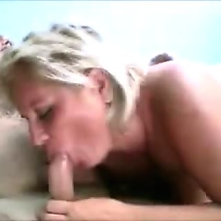 Mature, blonde and plump