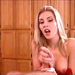 Nice mom-slut jerking & lick, suck dick!