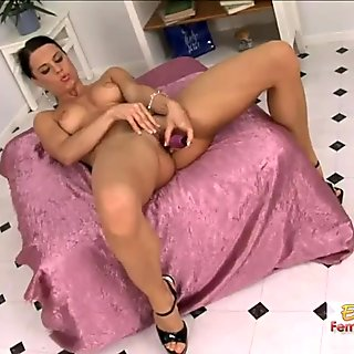 Self Pleasuring With A Big Dildo Is What Alex Knows Best