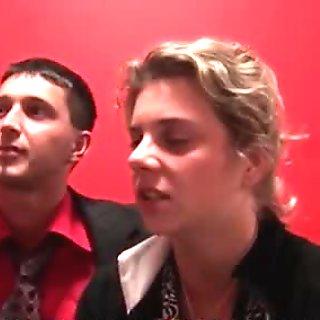 Sexy blonde sluts get horny showing off movie