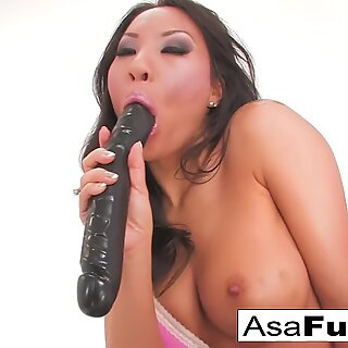 Asa gets her asshole well-prepped for humping